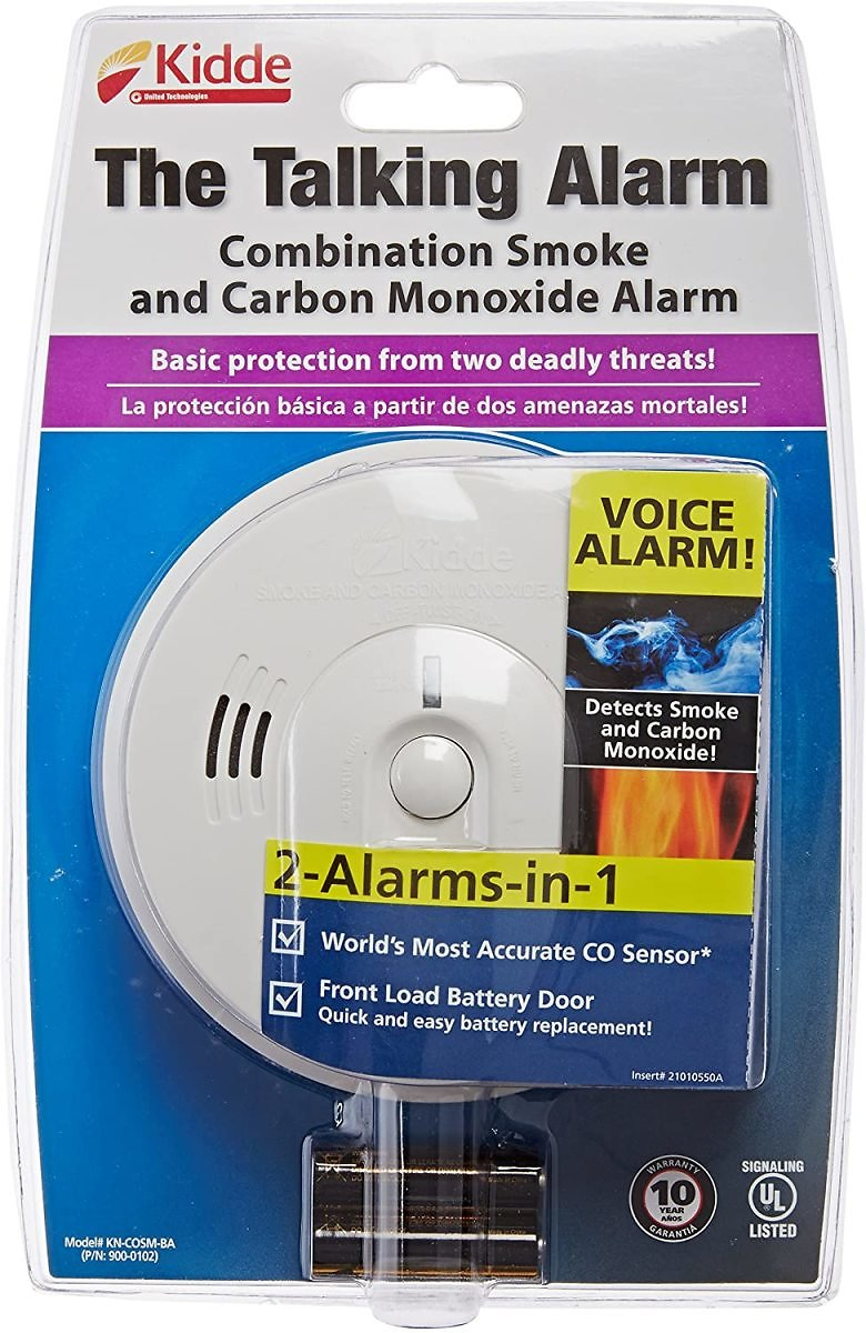 Kidde Battery-Operated Combination Carbon Monoxide and Smoke Alarm with Talking Alarm