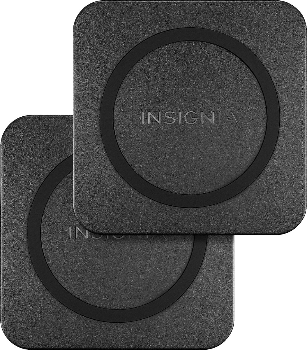 Insignia™ 10 W Qi Certified Wireless Charging Pad for Android/iPhone (2 Pack) Black NS-MWPC10KTP