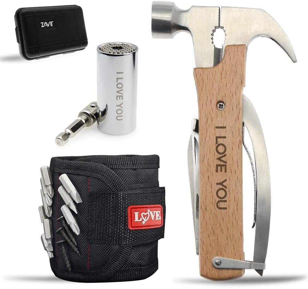 "Gifts for Him Husband Him Men,Stocking Stuffers for Men,""LOVE"" Cool Anniversary Birthday Fathers Day Gadget Gifts for Men,All in"