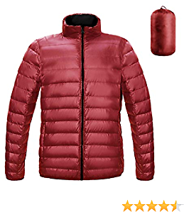 Men's Winter Packable Down Coat Warm Casual Lightweight Puffer Jacket for Outdoor Insulated Travel Outdoor