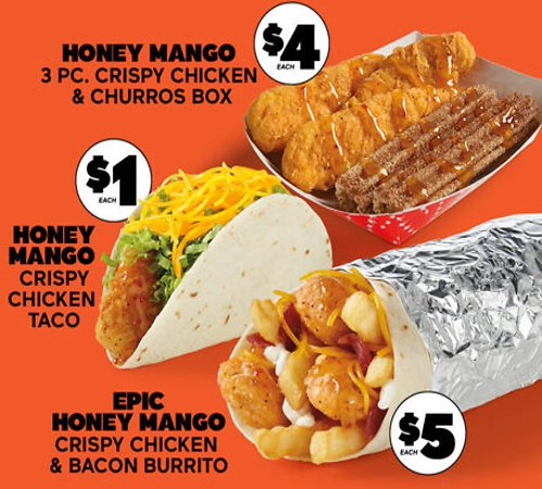 New Honey Mango Crispy Chicken Lineup ($1 - $5)
