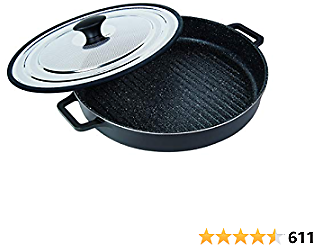 MasterPan Non-Stick Stovetop Oven Grill Pan 12-inch