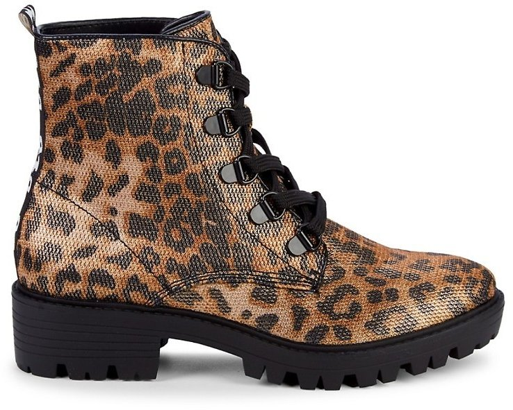 Kendall + Kylie Epic Leopard-Print Combat Boots On SALE   Saks OFF 5TH