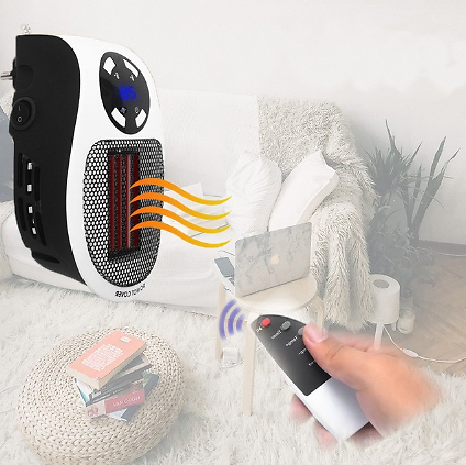 PLUG-N-HEAT Personal Wall Heater with Remote Control