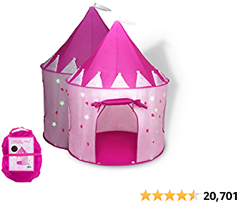 Foxprint Princess Castle Play Tent With Glow In The Dark Stars, Conveniently Folds In To A Carrying Case.....