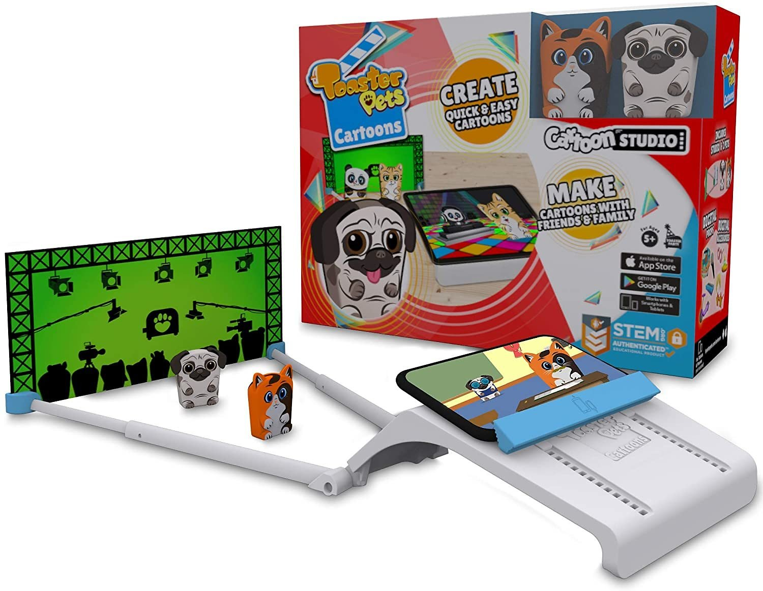 65% Off Toaster Pets Cartoons Studio Kit Quick, Easy and Collaborative Movie Maker Set for Kids