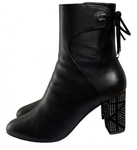 Leather Ankle Boots - Black 5 Dior