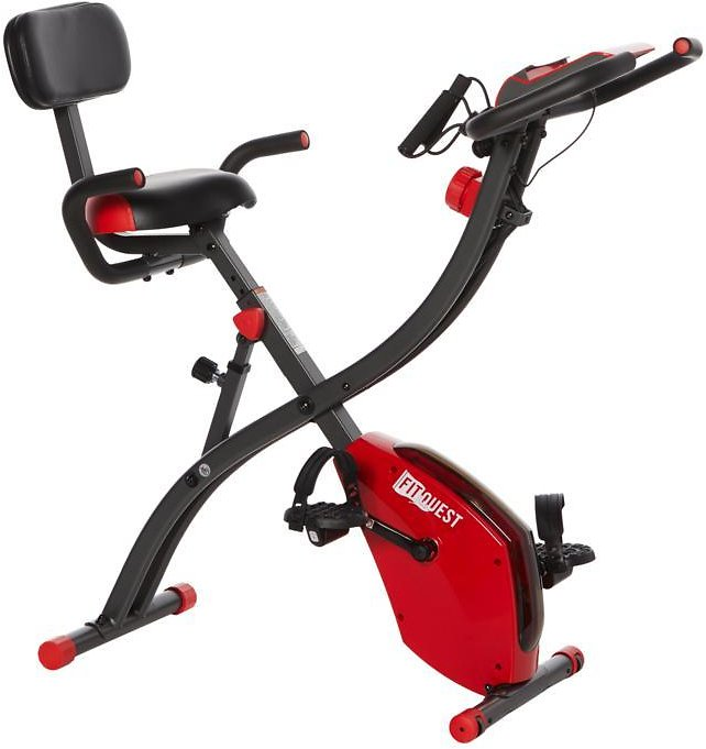 Exclusive! FitQuest Upright Flex Express and Recumbent Bike with Resistance Bands
