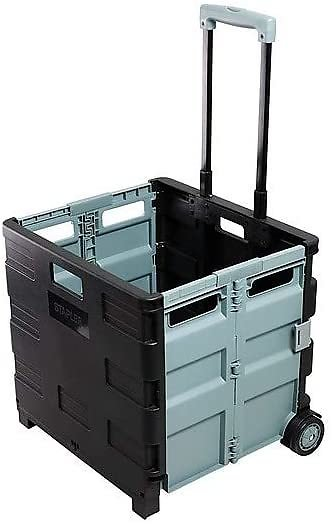 30-Qt Durable Expanding Crate on Wheels