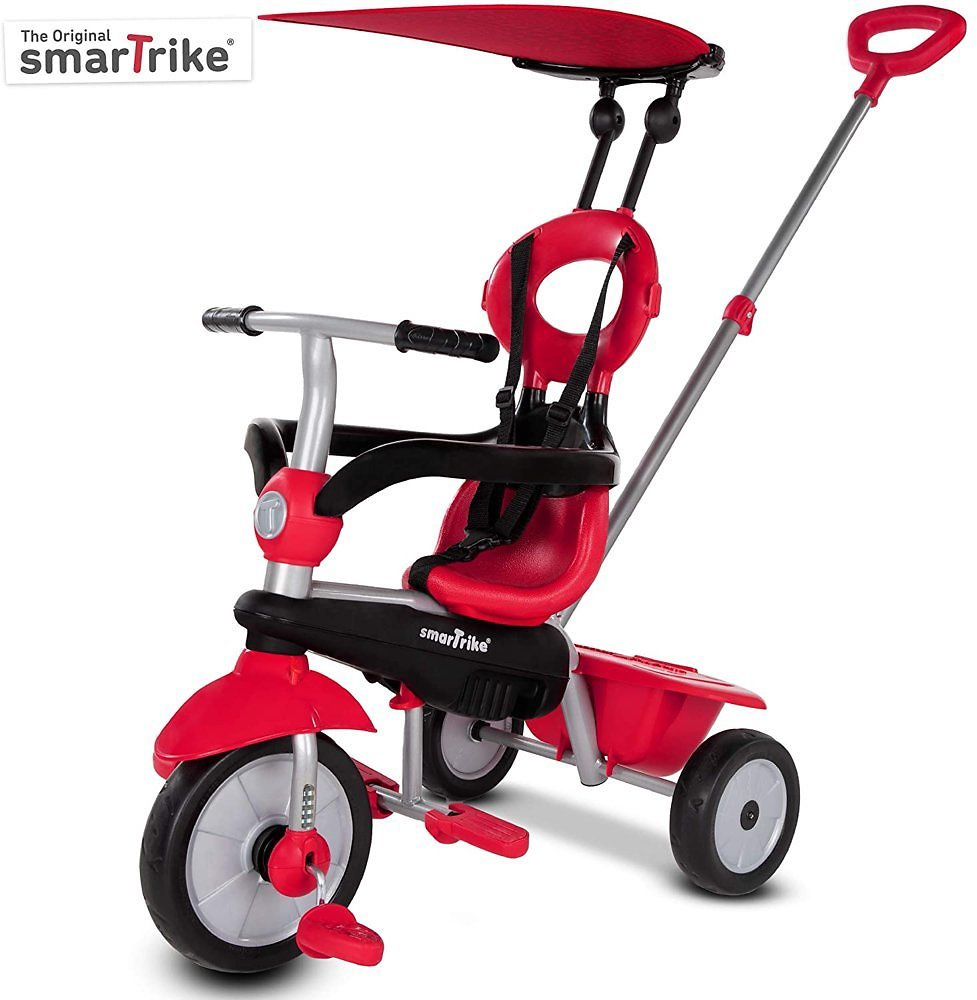 SmarTrike Zoom, 4-in-1 Toddler Tricycle 15M+ - Red
