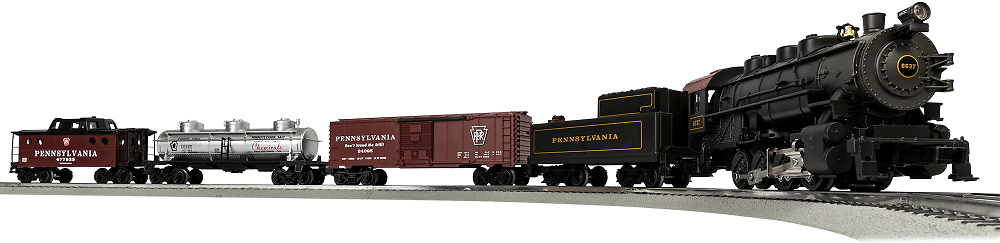 Lionel O Scale Pennsylvania Flyer with Remote and Bluetooth Capability Electric Powered Model Train Locomotive