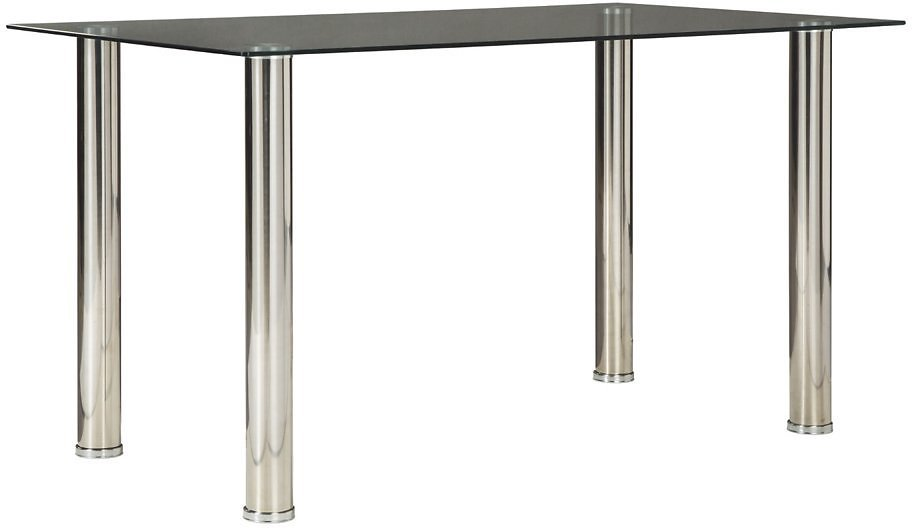 Signature Design By Ashley - Sariden Rectangular Dining Room Table - Contemporary Style - Black/White