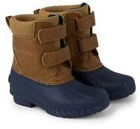 Boys Faux Leather And Rubber Snow Boots - Aspen Lodge