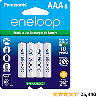 Panasonic Rechargeable AAA Batteries 8-Pack Only $16 Shipped On Amazon