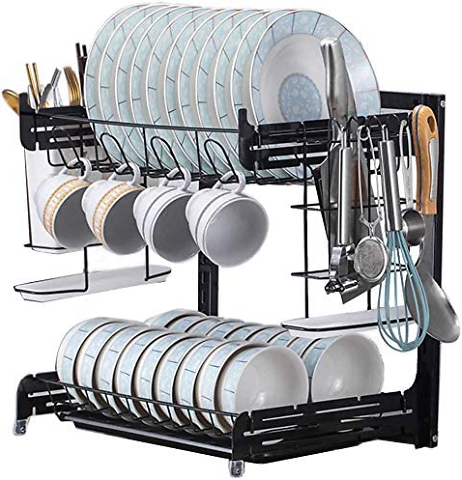 2-Tier Adjustable Dish Drying Rack