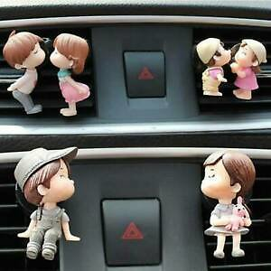 Lovely Couple Girl/Boy Car Air Vent Freshener Perfume Clip Aromas Diffuser Decor