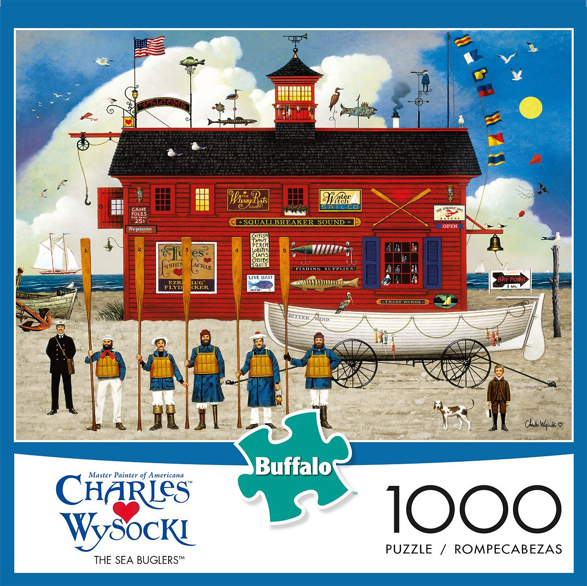 Buffalo Games - Charles Wysocki - The Sea Buglers - 1000 Piece Jigsaw Puzzle