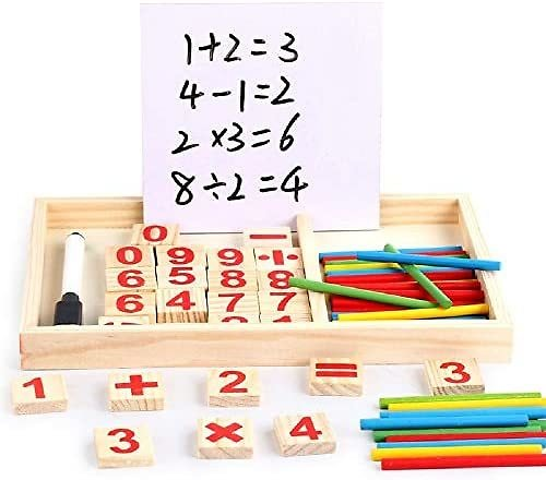 KAREZONINE Counting Sticks Calculation Game Educational Toy