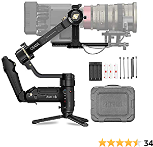Crane 3S 3-Axis Handheld Gimbal Stabilizer for DSLR Cameras and Camcorder $554.25