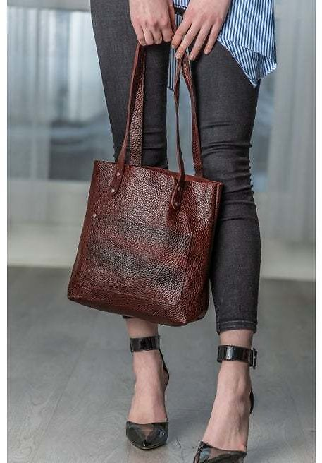 Personalized Leather Totes For Women, Leather Tote Bag with Zipper Monogram, Women's Leather Handbag Purse Shoulder Bag, Gifts For Women