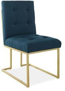 Modway Privy Gold Stainless Steel Upholstered Fabric Dining Accent Chair