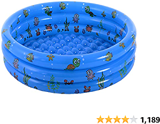 Garden Round Inflatable Baby Swimming Pool, Portable Inflatable Child/Children Little Pump Pool,Kiddie Paddling Pool Indoor&Outdoor Toddler Water Game Play Center for Kids/Girl/Boy