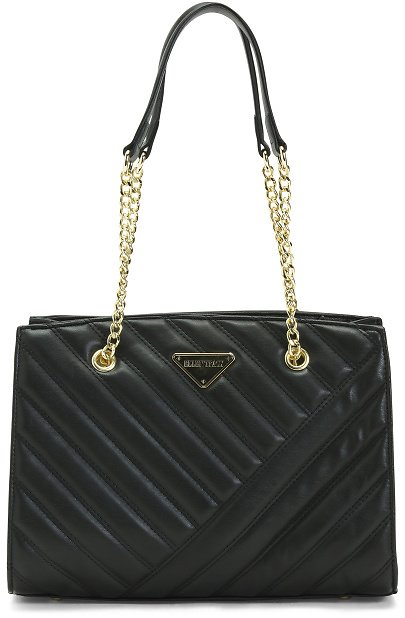 Ellen Tracey Quilted Satchel With Chain Handles
