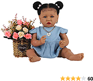 40% Off On HOOMAI Lifelike Reborn Baby Dolls with Soft Body African American Realistic Girl Doll