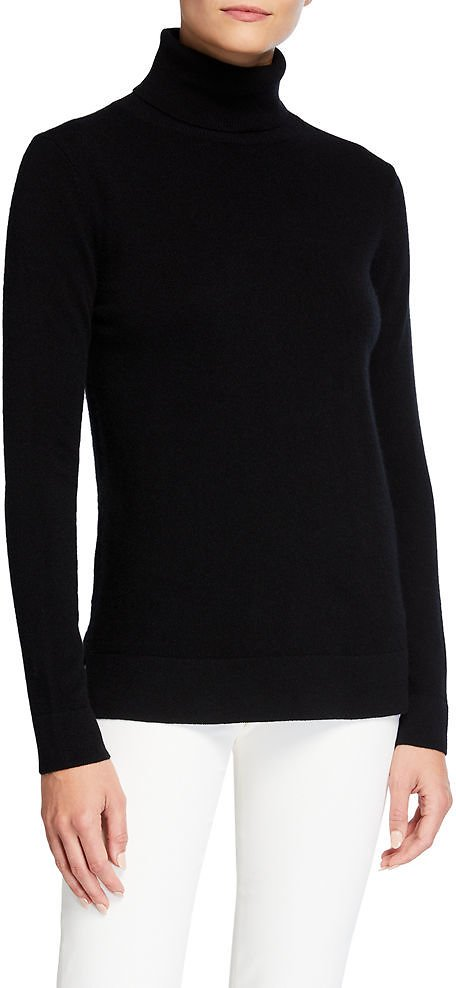 Neiman Marcus Cashmere CollectionModern Turtleneck Cashmere Sweater