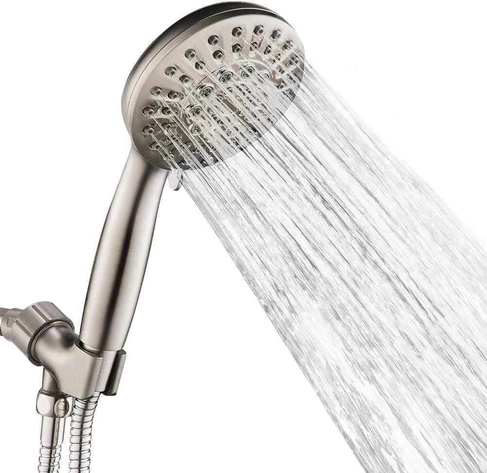 Androme Hand Held Shower Head with 6 Spray Settings, 4.3