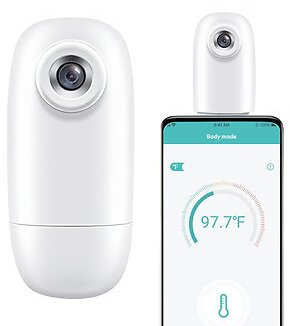 Thermodock Non-contact Contactless Smart IR Infrared Sensor Forehead Body/Object Thermometer Replacement for OTG Function Android System with APP Control