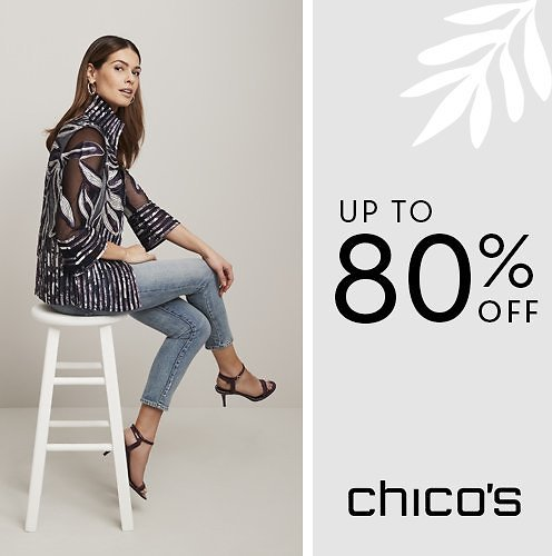 Up to 80% Off Chico's Apparel