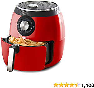 20% OFF Dash DFAF455GBRD01 Deluxe Electric Air Fryer + Oven Cooker with Temperature Control