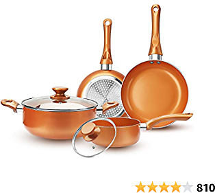 FRUITEAM 6-piece Nonstick Kitchen Cookware Set Kitchenware Set