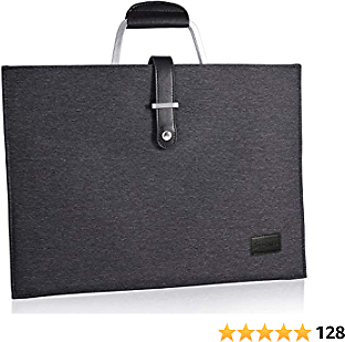 KLOKOL Simple 12 Inch Laptop Sleeve Portable Carrying Bag with Handle for 12 Inch MacBook and 13 Inch MacBook Pro (Black Gray)