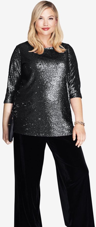 Sequin Blouse Tunic
