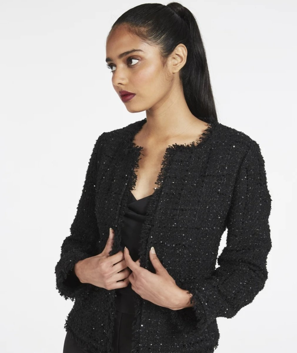 Guinevere Micro Sequin Tweed Jacket - MILLY | MILLY