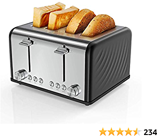 48% Toaster 4 Slice, 6 Bread Shade Settings, 1650W, 1.5