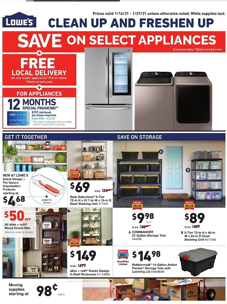 Lowe's Weekly Ad (1/14-1/27)