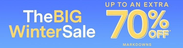The BIG Winter Sale: Up To EXTRA 70% Off Markdowns!