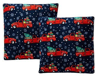 Morgan Home LAST ACT! Holiday Print Plush 18