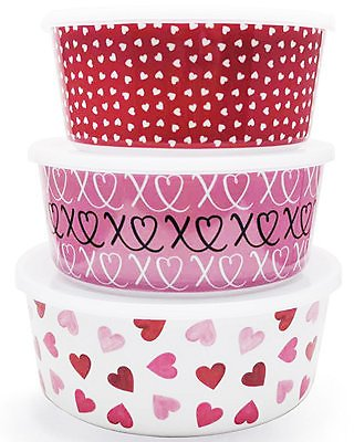 Martha Stewart 3-Pc Valentine's Day Containers