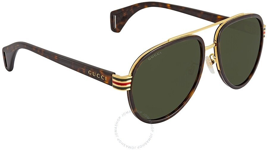 Gucci Green Aviator Unisex Sunglasses GG0447S00458