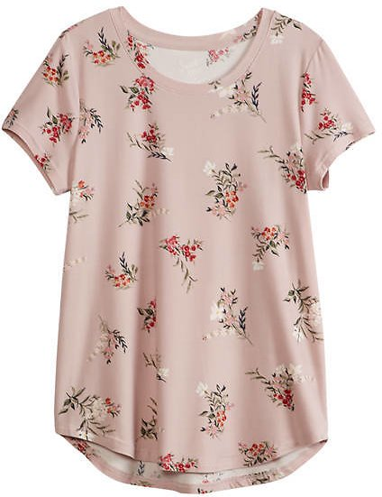 Sweet Tea's By Pink Rose Junior's Short Sleeve Peached T-Shirt