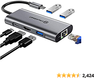 36% OFF USB C Hub UtechSmart 6 In 1 USB C to HDMI Adapter with 1000M Ethernet