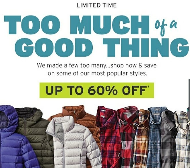 Up to 60% Off +Extra 50% Off Sale Too Much of a Good Thing Sale
