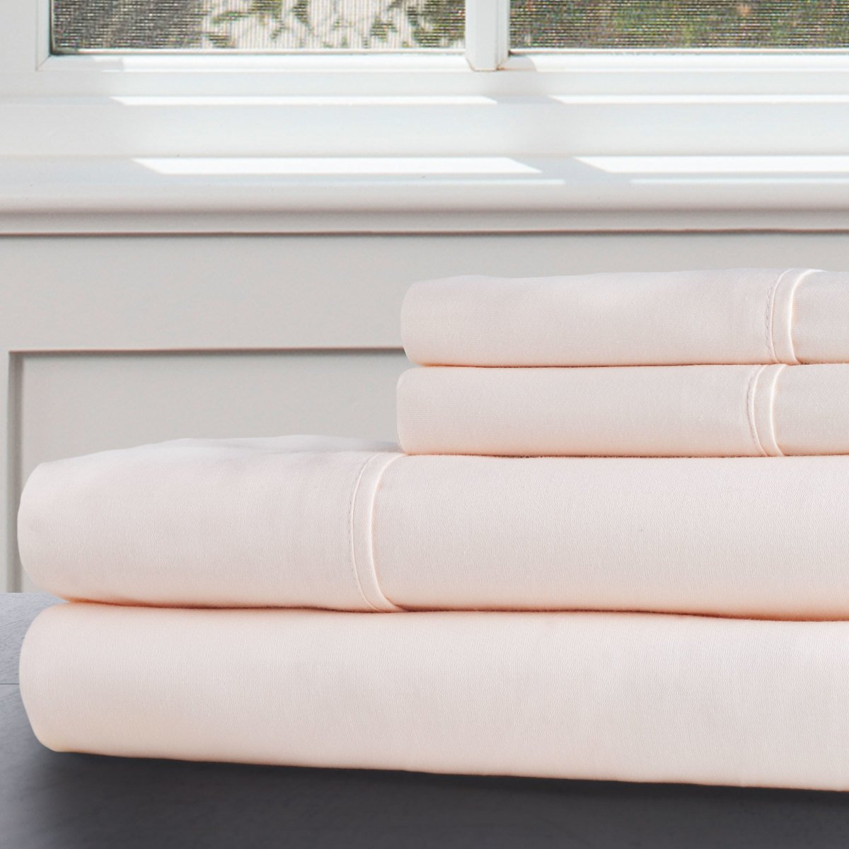 4pc 100% Cotton 300 Thread Count Bedding Sheet Set By Somerset Home