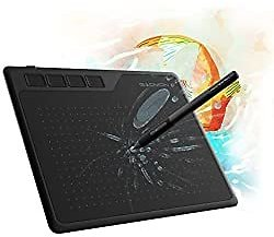 GAOMON S620 Pen Tablet & 1-Finger Gloves- Graphics Drawing Tablet for Digital Drawing/ 2D 3D Animation/Annotating Signing/ Online Tutoring: Computers & Accessories