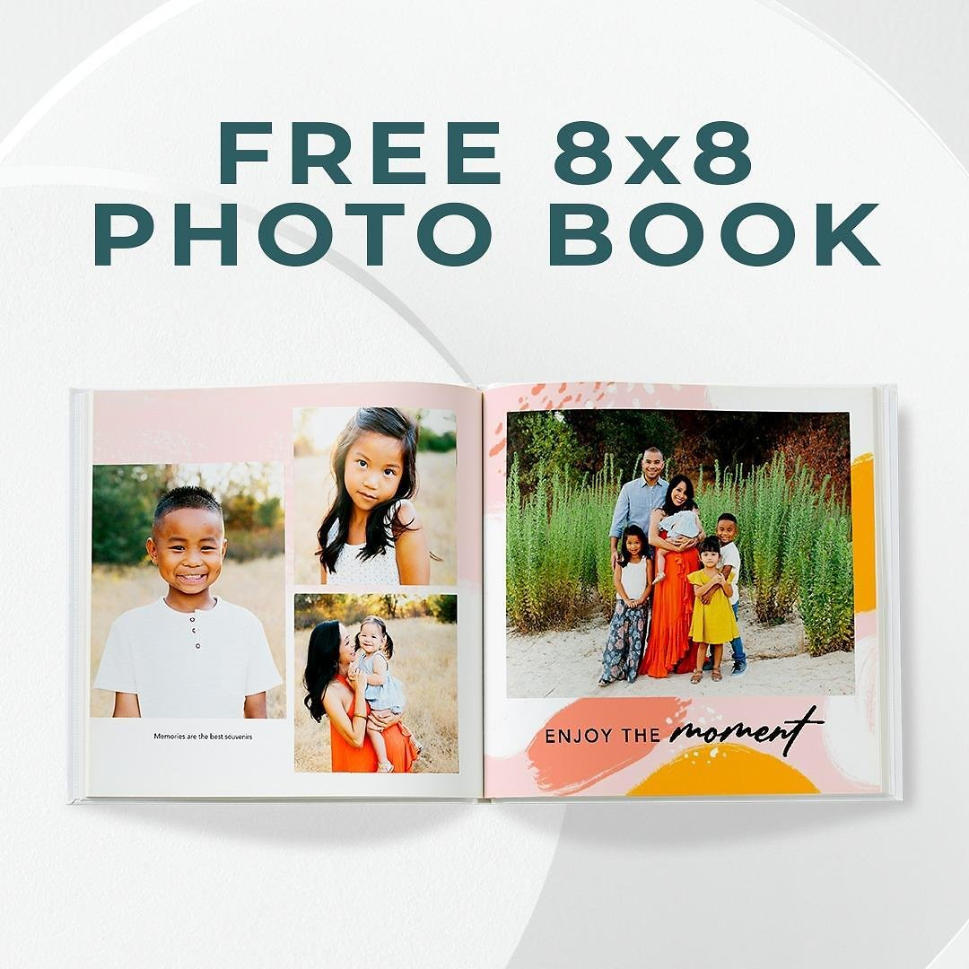 Free 8x8 Photo Book + 50% Off Everything