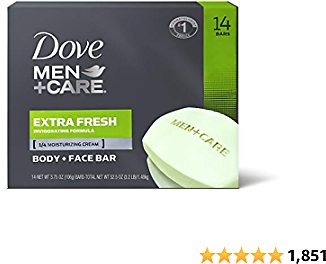 Dove Men+Care Body & Face Bar 14-Count Just $14.47 Shipped On Amazon | Just $1.03 Per Bar!